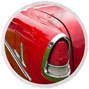 1955 Chevrolet Bel Air Tail Light Round Beach Towel