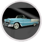 1955 Chevy Bel Air Round Beach Towel