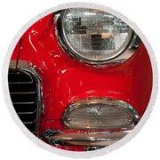 1955 Chevy Bel Air Headlight Round Beach Towel