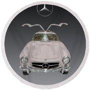 1955 Mercedes Benz Gull Wing 300 S L  Round Beach Towel