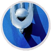 1955 Packard Clipper Hood Ornament 4 Round Beach Towel