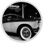 1955 Studebaker President Speedster Round Beach Towel