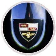 1955 Studebaker President Speedster Emblem -0496c45 Round Beach Towel