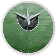 1956 Buick Hood Ornament Round Beach Towel