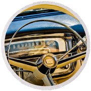 1956 Cadillac Steering Wheel Round Beach Towel