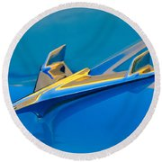 1956 Chevrolet Hood Ornament 2 Round Beach Towel