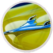 1956 Chevrolet Hood Ornament Round Beach Towel