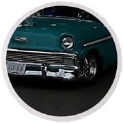 1956 Chevy 210 Round Beach Towel