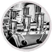 1956 Chrysler Hot Rod Engine Round Beach Towel