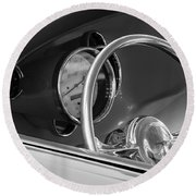 1956 Chrysler Hot Rod Steering Wheel Round Beach Towel