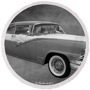 1956 Ford Fairlane Victoria Round Beach Towel