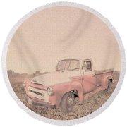 1956 Ford S120 International Truck Round Beach Towel