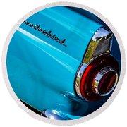 1956 Ford Thunderbird 2 Round Beach Towel
