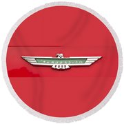 1956 Ford Thunderbird Emblem Round Beach Towel