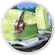 1956 Ford Thunderbird Round Beach Towel