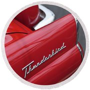1956 Ford Thunderbird Taillight Emblem 2 Round Beach Towel