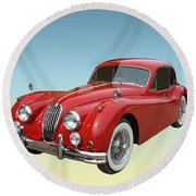 1956 Jaguar Xk 140 Mc Round Beach Towel