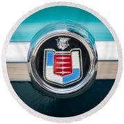 1956 Mercury Monterey Emblem Round Beach Towel