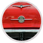 1956 Oldsmobile Hood Ornament 4 Round Beach Towel by Jill Reger