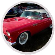 1956 Tbird Round Beach Towel