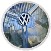 1956 Volkswagen Vw Bug Head Light Round Beach Towel