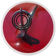 1957 Buick Hood Ornament  Round Beach Towel