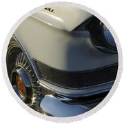 1957 Cadillac Front End Round Beach Towel