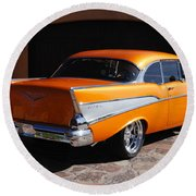 1957 Chevrolet Belair Coupe Round Beach Towel