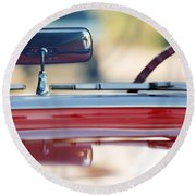 1957 Chevrolet Corvette Convertible  Round Beach Towel