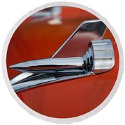 1957 Chevrolet Hood Ornament Round Beach Towel