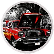 1957 Chevy Bel Air Round Beach Towel