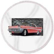 1957 Chrysler New Yorker Round Beach Towel