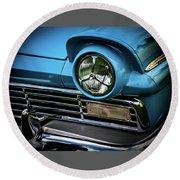 1957 Ford Detail Round Beach Towel