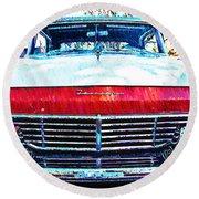 1957 Ford Fairlane Round Beach Towel