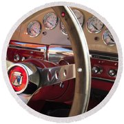 1957 Ford Fairlane Steering Wheel Round Beach Towel