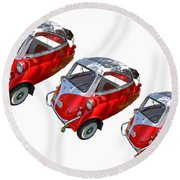 1957 Isetta 300 Round Beach Towel