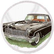 1957 Lincoln Continental Mk II Round Beach Towel