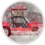 1957 Mercedes Gullwing Round Beach Towel