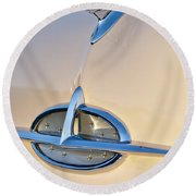 1957 Oldsmobile Hood Ornament 7 Round Beach Towel by Jill Reger