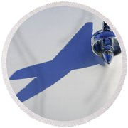 1957 Studebaker Hood Ornament Round Beach Towel