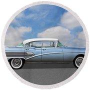 1958 Buick Roadmaster 75 Round Beach Towel