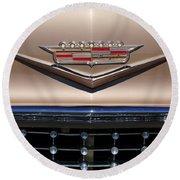 1958 Cadillac Eldorado Barritz Emblem Round Beach Towel