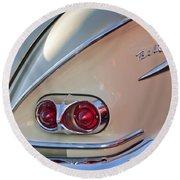 1958 Chevrolet Belair Taillight Round Beach Towel