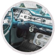 1958 Chevrolet Impala - 5 Round Beach Towel