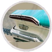1958 Edsel Pacer Tail Light Round Beach Towel
