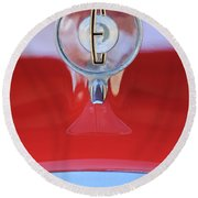 1958 Edsel Ranger Hood Ornament 2 Round Beach Towel