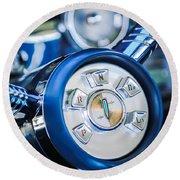 1958 Edsel Ranger Push Button Transmission Round Beach Towel
