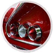 1958 Impala Tail Lights Round Beach Towel