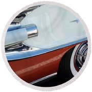 1958 Pontiac Bonneville Wheel Round Beach Towel