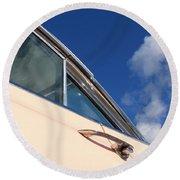 1959 Cadillac Coupe De Ville 09 Round Beach Towel